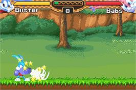 In game image of Tiny Toon Adventures: Buster's Bad Dream on the Nintendo Game Boy Advance.