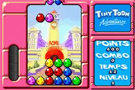 In game image of Tiny Toon Adventures: Wacky Stackers on the Nintendo Game Boy Advance.