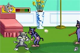 In game image of Tom and Jerry: The Magic Ring on the Nintendo Game Boy Advance.