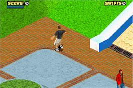 In game image of Tony Hawk's Pro Skater 4 on the Nintendo Game Boy Advance.