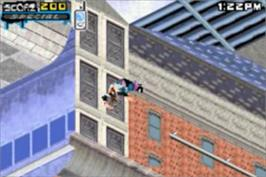 In game image of Tony Hawk's Underground 2 on the Nintendo Game Boy Advance.