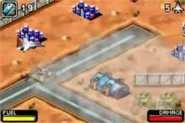 In game image of Top Gun: Firestorm on the Nintendo Game Boy Advance.