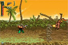 In game image of Turok: Evolution on the Nintendo Game Boy Advance.