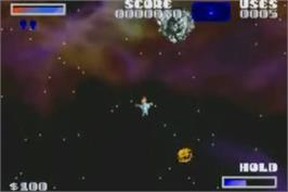 In game image of Ultimate Arcade Games on the Nintendo Game Boy Advance.
