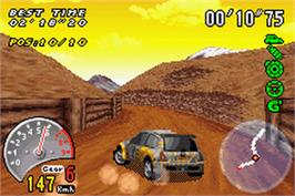 In game image of V-Rally 3 on the Nintendo Game Boy Advance.