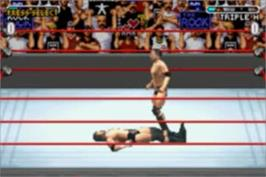 In game image of WWE Road to Wrestlemania X8 on the Nintendo Game Boy Advance.