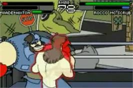 In game image of Wade Hixton's Counter Punch on the Nintendo Game Boy Advance.