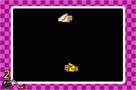 In game image of WarioWare, Inc.: Mega Microgame$ on the Nintendo Game Boy Advance.