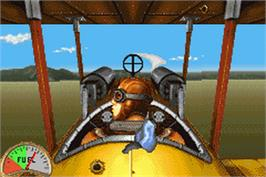 In game image of Wings on the Nintendo Game Boy Advance.