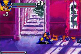 In game image of X-Men: Reign of Apocalypse on the Nintendo Game Boy Advance.