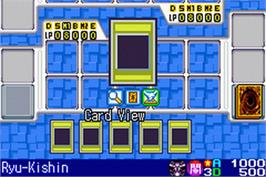 In game image of Yu-Gi-Oh! World Championship Tournament 2004 on the Nintendo Game Boy Advance.