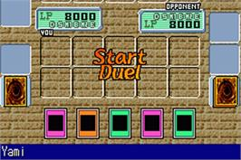 In game image of Yu-Gi-Oh! Worldwide Edition: Stairway to the Destined Duel on the Nintendo Game Boy Advance.