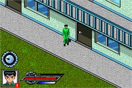 In game image of Yu Yu Hakusho: Spirit Detective on the Nintendo Game Boy Advance.