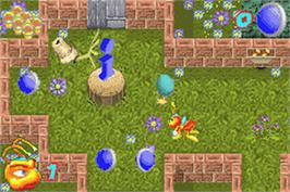 In game image of Zoo Keeper on the Nintendo Game Boy Advance.