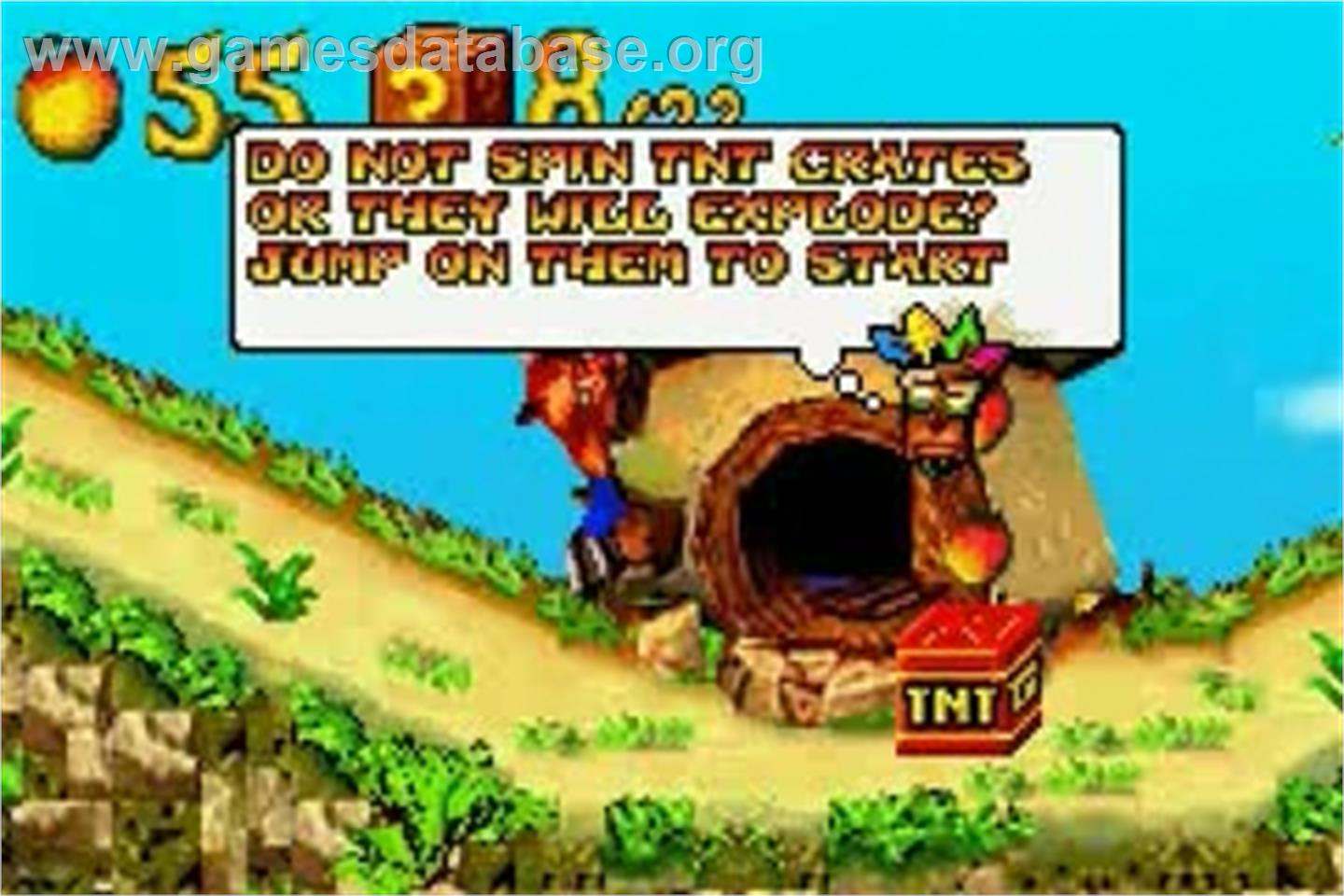 crash bandicoot nitro kart gba