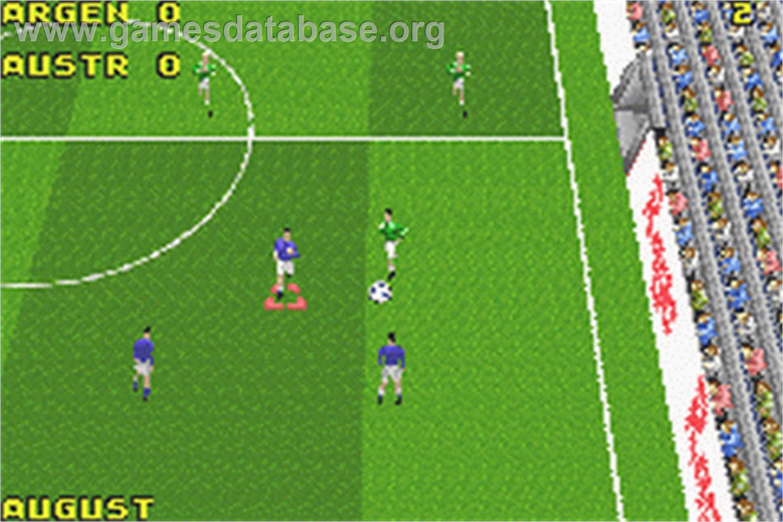 game image of David Beckham Soccer on the Nintendo Game Boy Advance