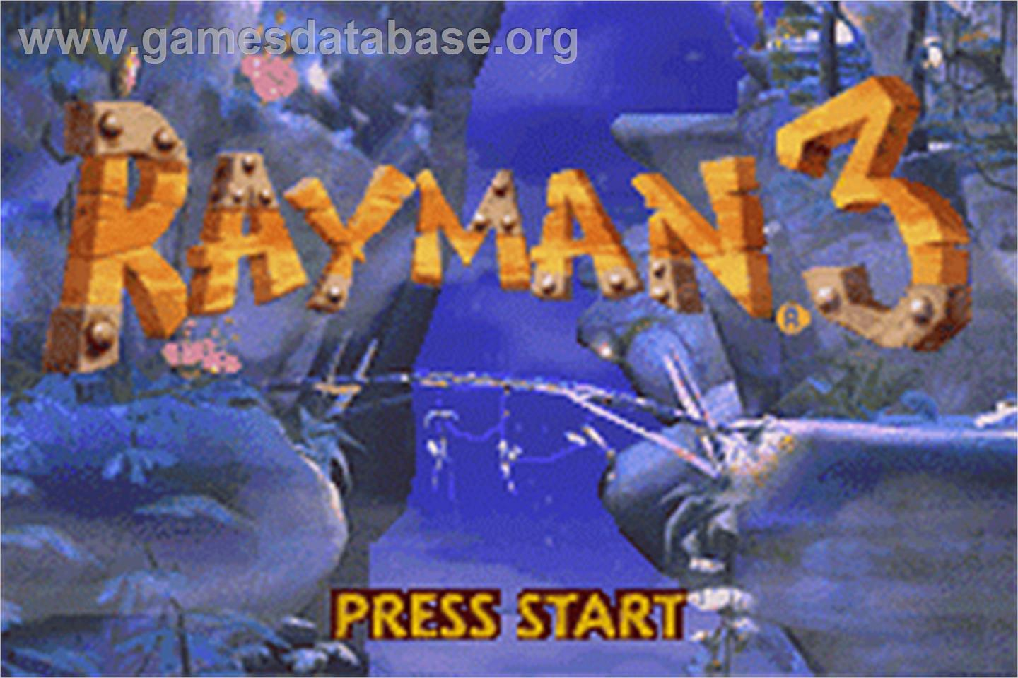 In game image of Rayman: Hoodlum's Revenge on the Nintendo Game Boy