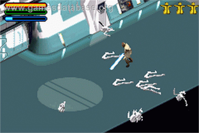 Star Wars Episode I Jedi Power Battles Nintendo Game Boy Advance Artwork In Game