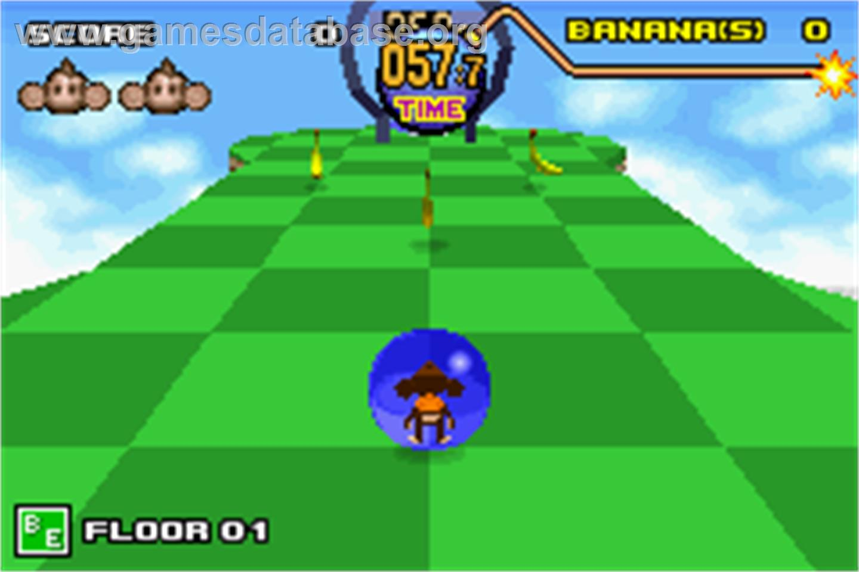 game image of Super Monkey Ball Jr. on the Nintendo Game Boy Advance