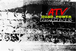 Title screen of ATV: Quad Power Racing on the Nintendo Game Boy Advance.