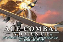 Title screen of Ace Combat Advance on the Nintendo Game Boy Advance.
