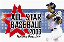 Title screen of All-Star Baseball 2003 on the Nintendo Game Boy Advance.