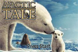 Title screen of Arctic Tale on the Nintendo Game Boy Advance.