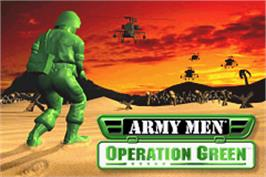 Title screen of Army Men: Operation Green on the Nintendo Game Boy Advance.
