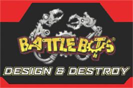 Title screen of BattleBots: Design & Destroy on the Nintendo Game Boy Advance.