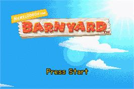 Title screen of Berry Tree on the Nintendo Game Boy Advance.