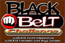 Title screen of Black Belt Challenge on the Nintendo Game Boy Advance.