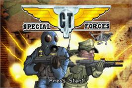 Title screen of CT Special Forces on the Nintendo Game Boy Advance.
