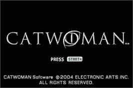 Title screen of Catwoman on the Nintendo Game Boy Advance.
