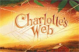 Title screen of Charlotte's Web on the Nintendo Game Boy Advance.