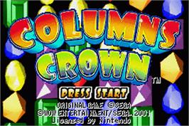 Title screen of Columns Crown on the Nintendo Game Boy Advance.