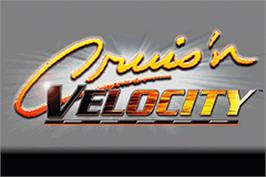 Title screen of Cruis'n Velocity on the Nintendo Game Boy Advance.