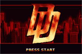 Title screen of Daredevil on the Nintendo Game Boy Advance.