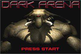 Title screen of Dark Arena on the Nintendo Game Boy Advance.