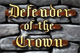 Title screen of Defender of the Crown on the Nintendo Game Boy Advance.