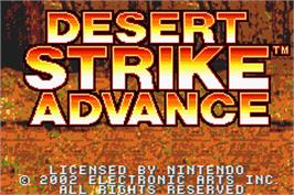 Title screen of Desert Strike: Return to the Gulf on the Nintendo Game Boy Advance.