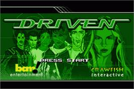 Title screen of Digidrive on the Nintendo Game Boy Advance.