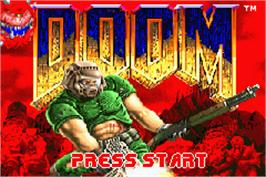 Title screen of Doom on the Nintendo Game Boy Advance.