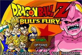 Title screen of Dragonball Z: Buu's Fury on the Nintendo Game Boy Advance.