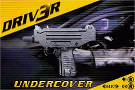 Title screen of Driv3r 2 on the Nintendo Game Boy Advance.
