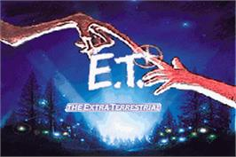 Title screen of E.T. The Extra-Terrestrial on the Nintendo Game Boy Advance.