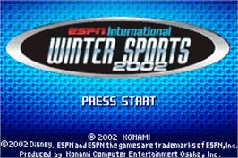Title screen of ESPN International Winter Sports 2002 on the Nintendo Game Boy Advance.