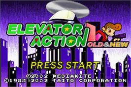 Title screen of Elevator Action Old & New on the Nintendo Game Boy Advance.