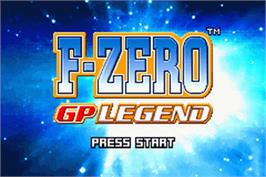 Title screen of F-Zero: GP Legend on the Nintendo Game Boy Advance.