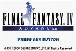 Title screen of Final Fantasy 2 on the Nintendo Game Boy Advance.