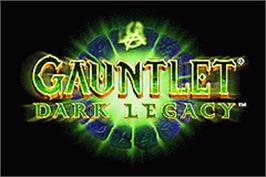 Title screen of Gauntlet Dark Legacy on the Nintendo Game Boy Advance.